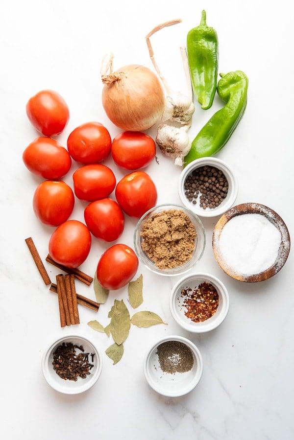 Homemade Ketchup ingredients