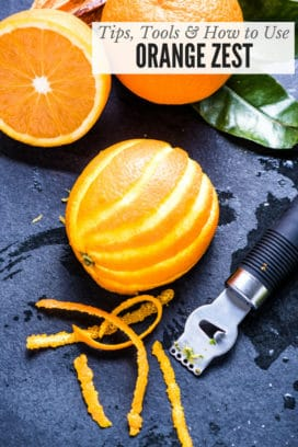 Orange Zest with zester (title image)