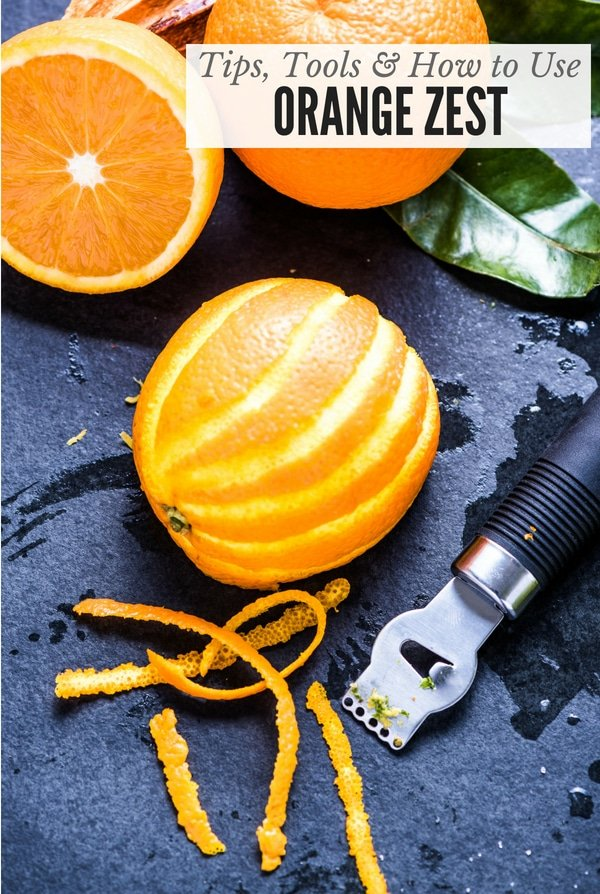 Orange Zest with zester (title image)
