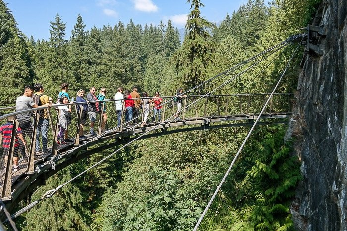 Capilano Bridge park Vancouver BC