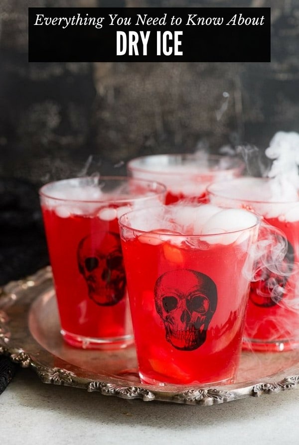 Glasses of punch with dry ice (title image)