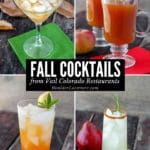 Fall Cocktails photo collage