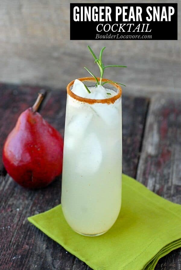 Ginger Pear Snap cocktail