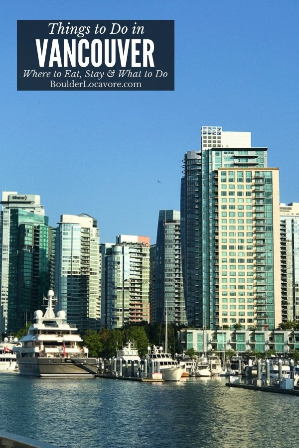 Things to Do in Vancouver BC: Where to Eat, Stay and What to Do! Loads of great restaurants of every type, tips on excursions (even what NOT to do) and a fabulous hotel. #travel #Canada #BritishColumbia #Vancouver #traveltips #wheretoeat #glutenfree #familytravel