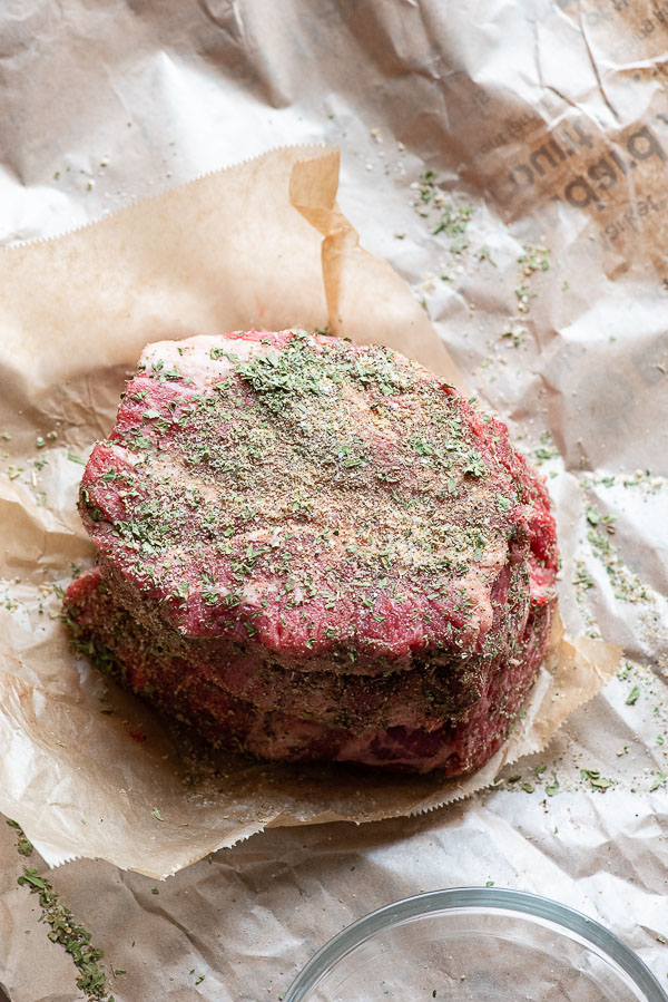 Chuck Roast with an herb rub