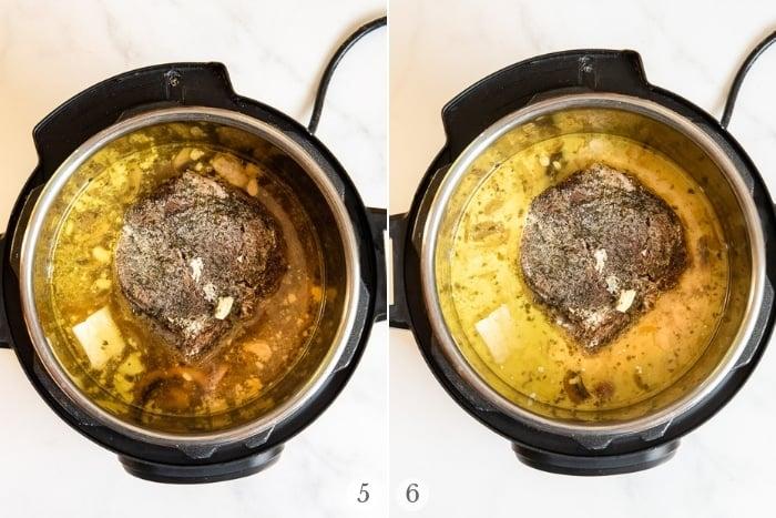 Creamy Mushroom Instant Pot Pot Roast recipe steps 5-6
