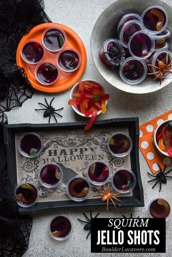 squirm Halloween jello shots title image