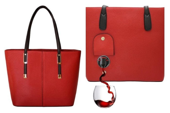 PortoVino Classic Leather Wine Purse