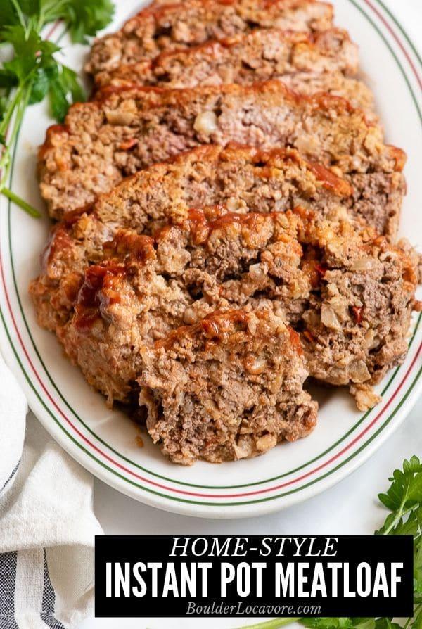 Instant Pot Meatloaf title image