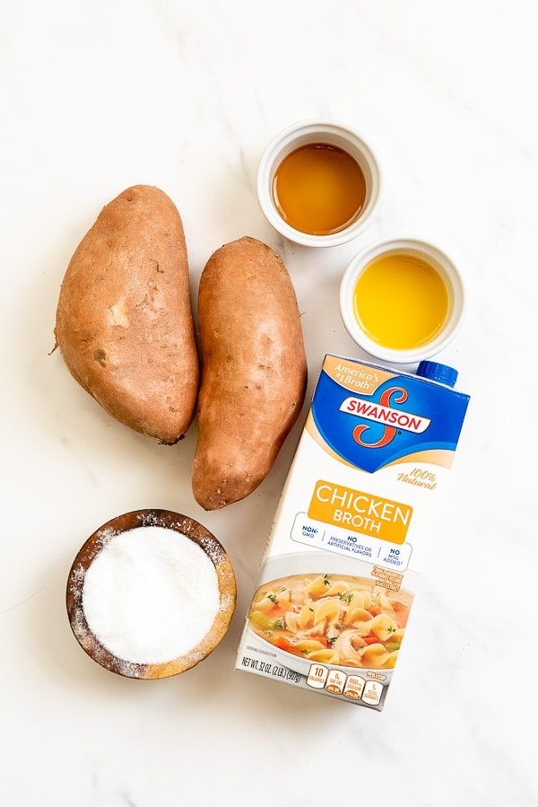 Mashed Instant Pot Sweet Potatoes ingredients