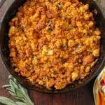 Spicy Chorizo Sage Cornbread Dressing