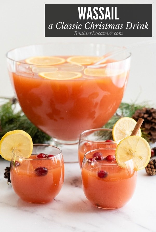 Wassail in punch bowl title image