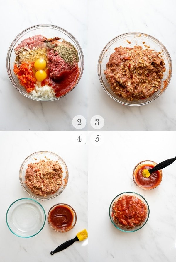 home-style instant pot meatloaf steps 2-5