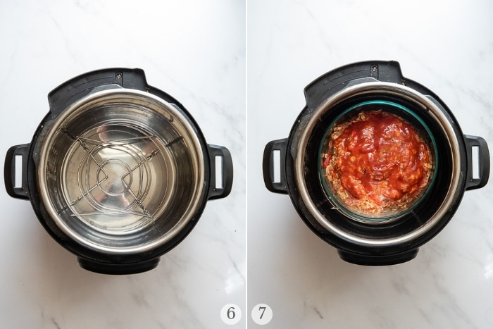 home-style instant pot meatloaf steps 6-7