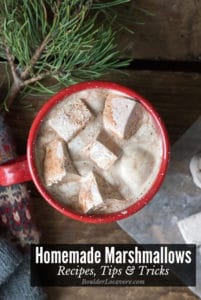 Homemade Marshmallows in a cup of hot cocoa