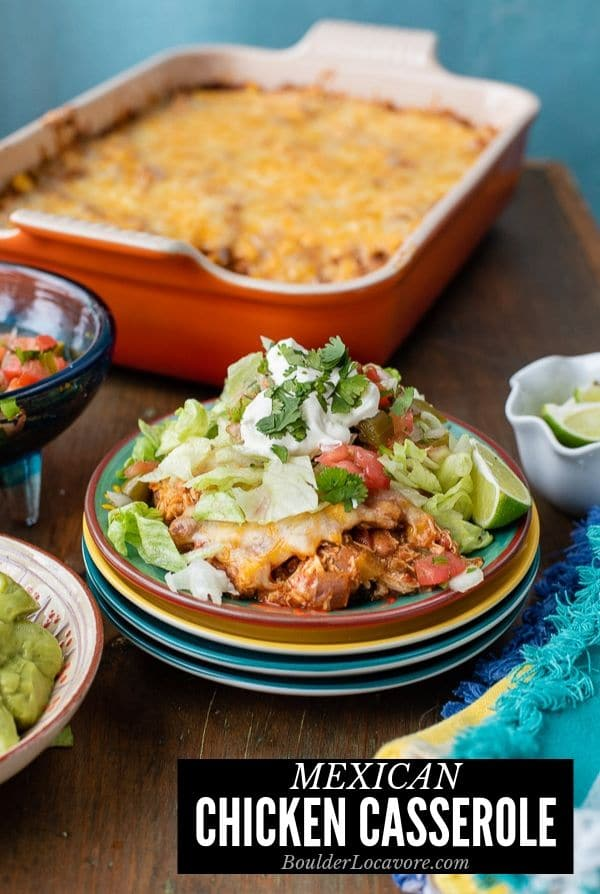 Mexican Chicken Casserole title image