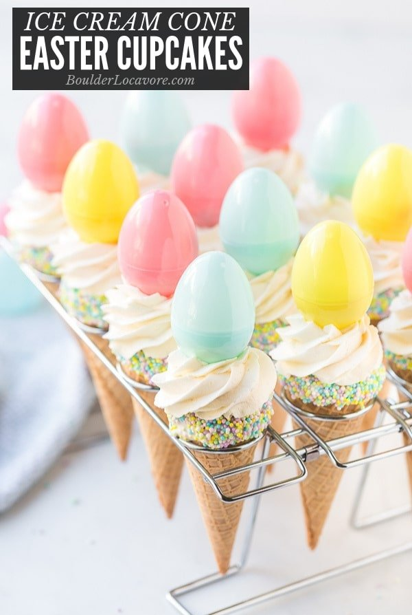 Easter Ice Cream Cone Cupcakes title image