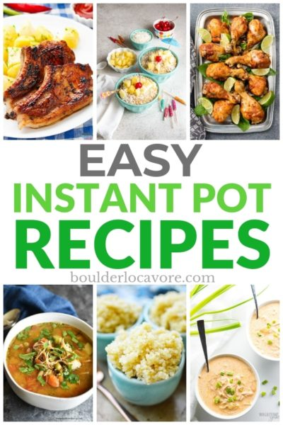 Easy Instant Pot Recipes title image