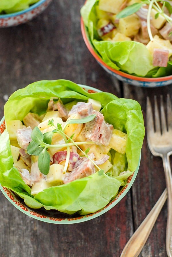 Hawaiian Chopped Ham Salad - a leftover ham recipe