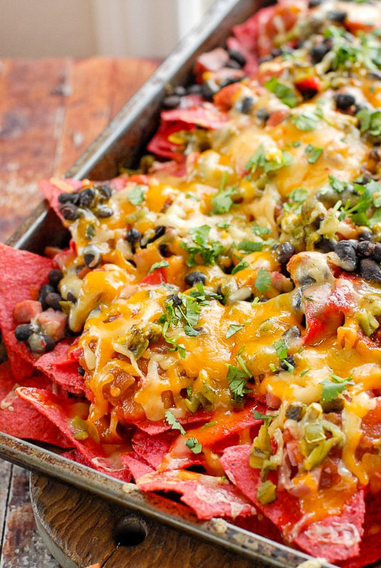 leftover ham black bean nachos recipe