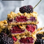 Blackberry Oatmeal Bars: an Easy Dessert Recipe