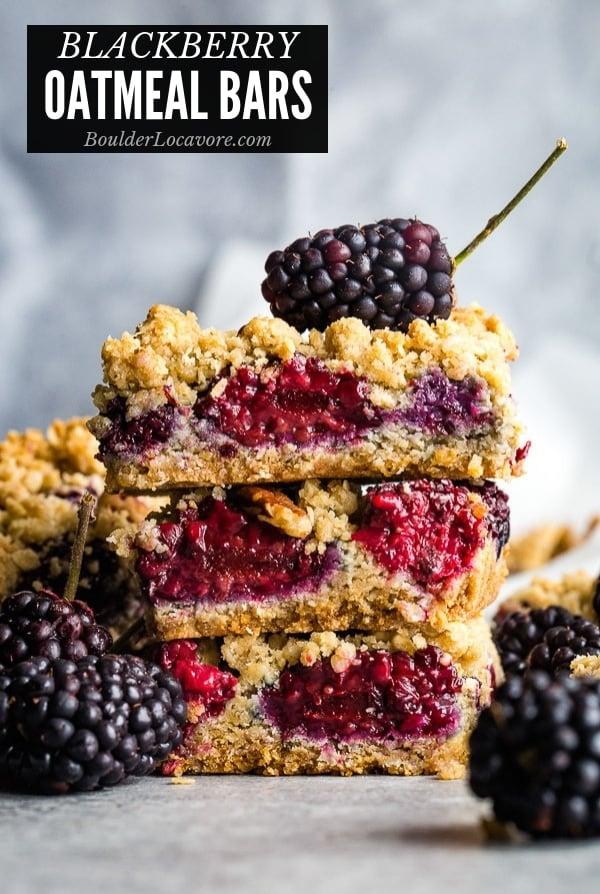 Blackberry Oatmeal Bars title image