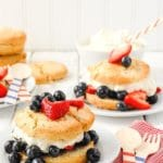 Blueberry & Strawberry Shortcake Biscuits (Red, White & Blue Dessert)
