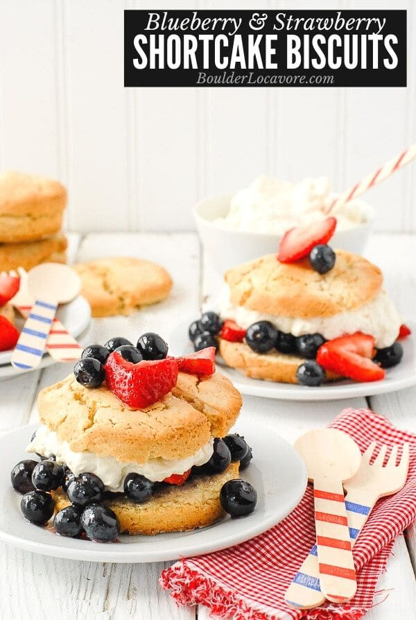 Blueberry and Strawberry Shortcake Biscuits title image