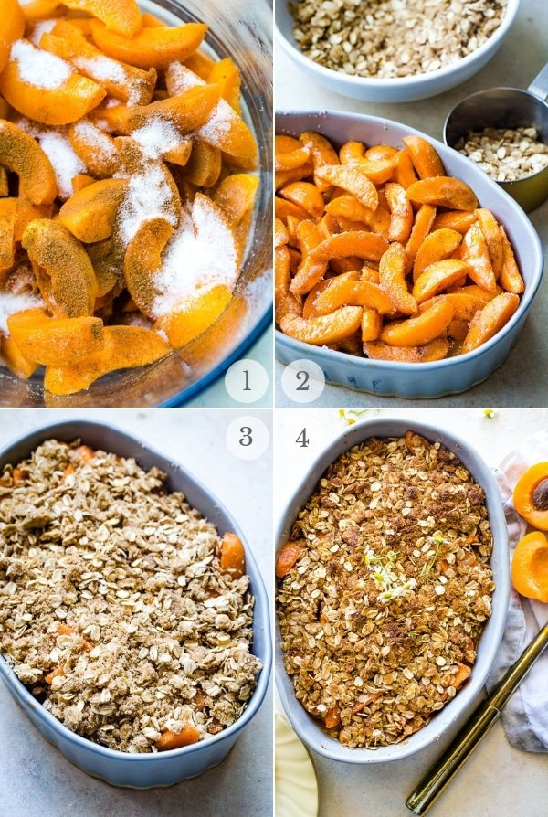 Apricot Crumble recipe recipe steps collage