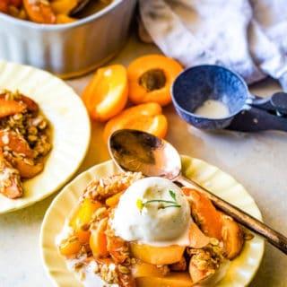 Apricot Crumble recipe title image