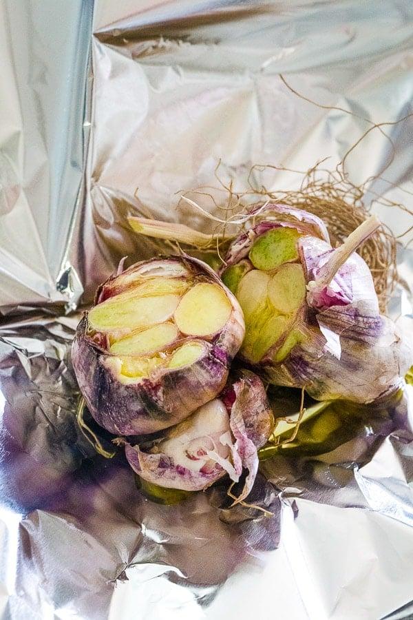 garlic head before roasting