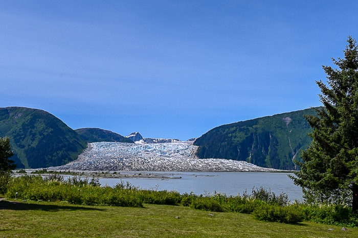 glacier by the Taku River