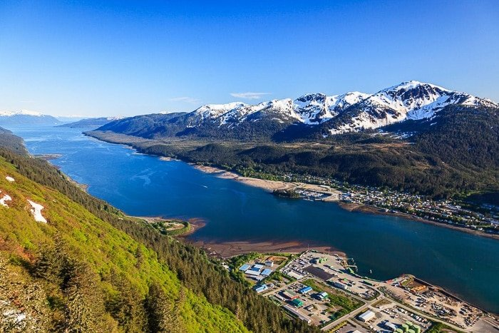 juneau from above sunny