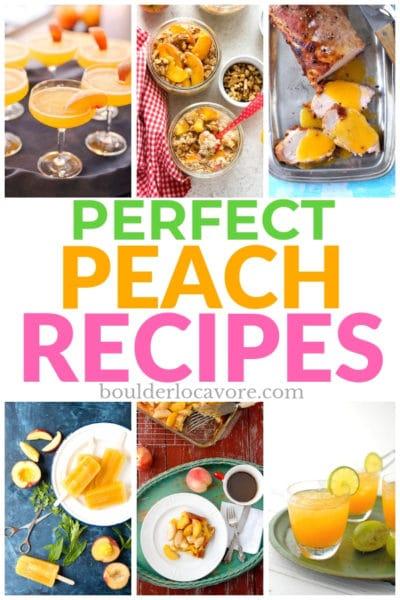 peach recipes title image