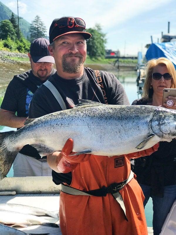 salmon and alaska fisherman