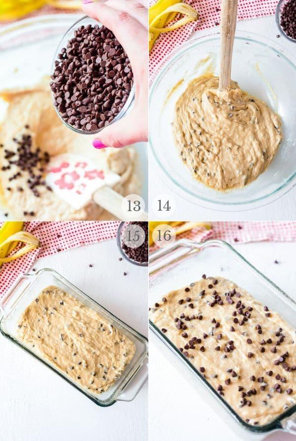 Chocolate Chip Banana Bread recipe steps photos 4