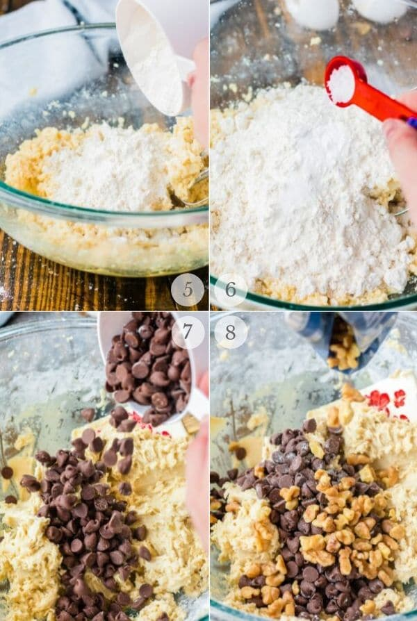Skillet Cookie recipe steps collage 2
