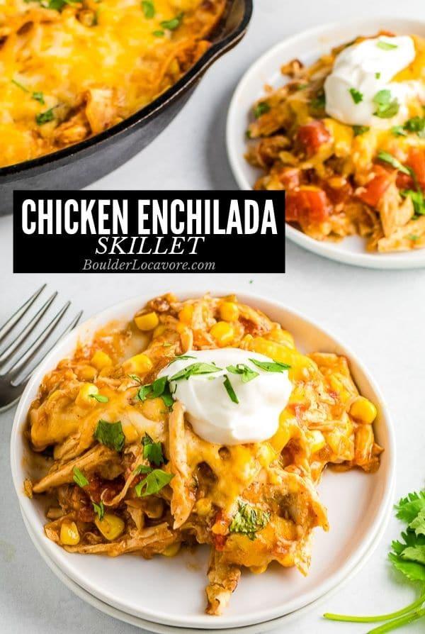 chicken enchilada skillet title image