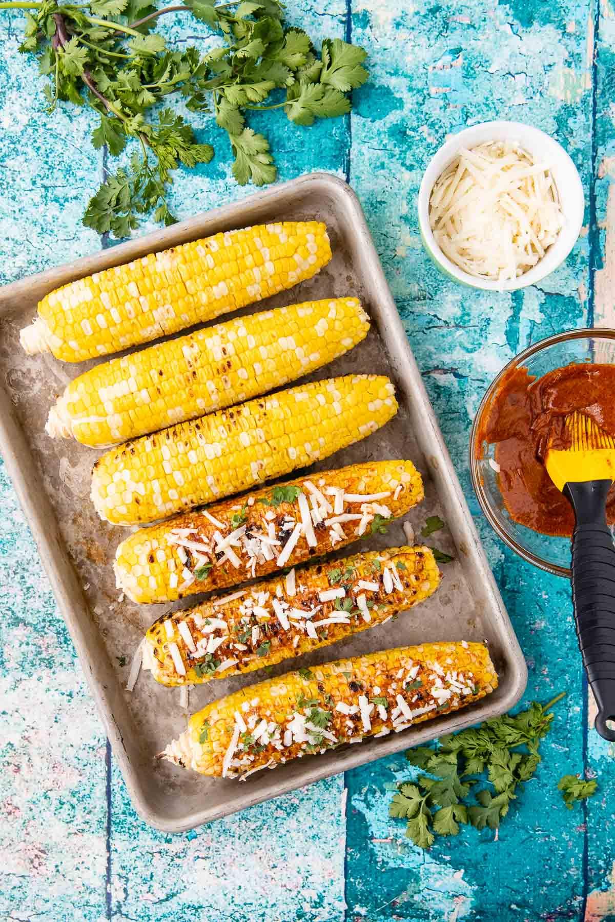 making mexican street corn