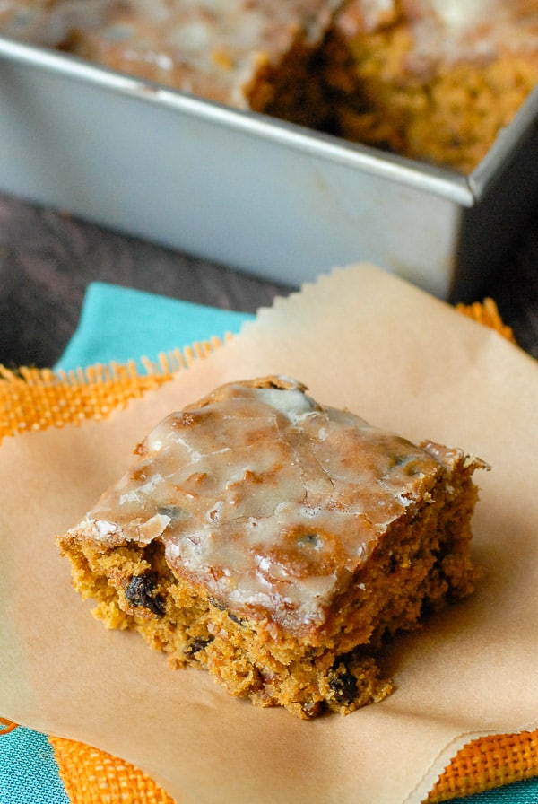 orange-glazed pumpkin bar