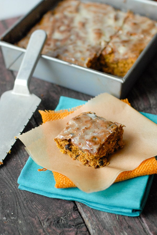 pumpkin bars serving