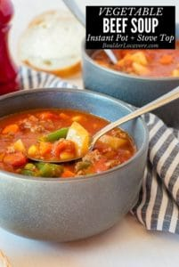 Vegetable Beef Soup - title