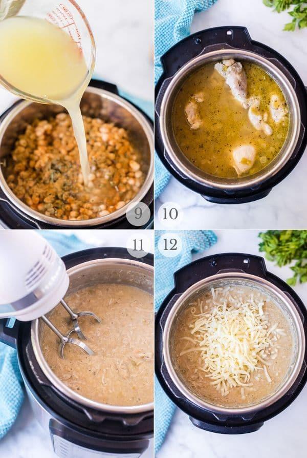 Instant Pot White Chicken Chili recipe process steps 3