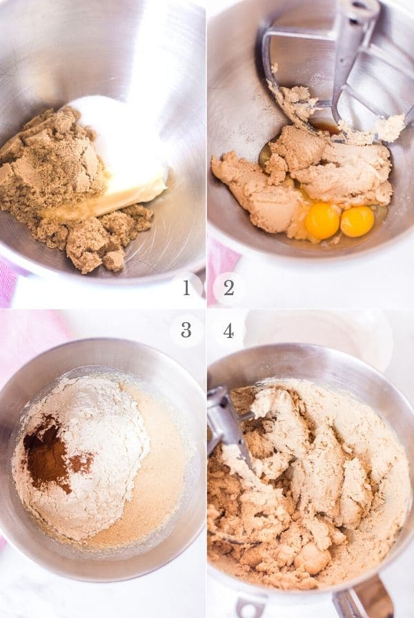 Snickerdoodles recipe steps photo collage 1