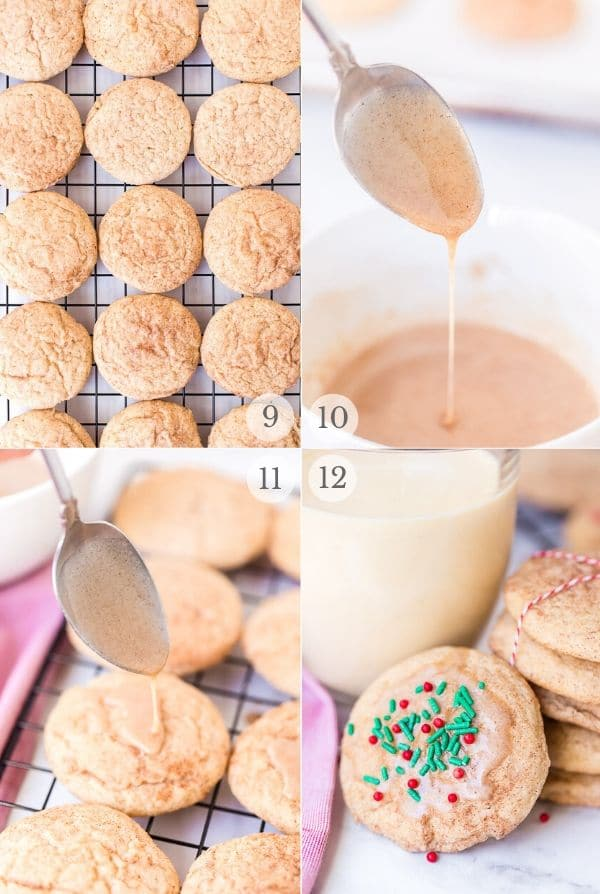Snickerdoodles recipe steps photo collage 3