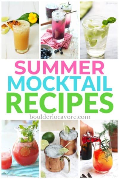 Summer Mocktail Recipes title image
