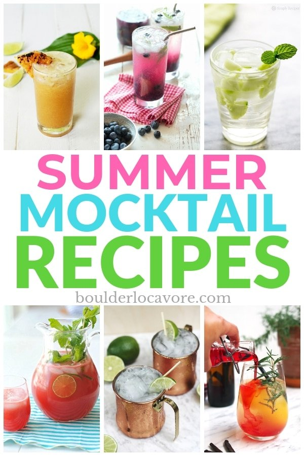Summer Mocktail Recipes title image