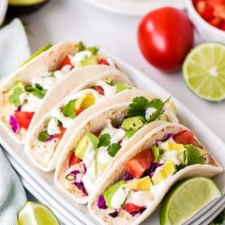 Fish Tacos on a platter