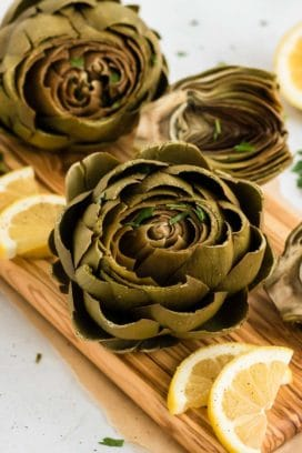 instant pot artichokes with lemon