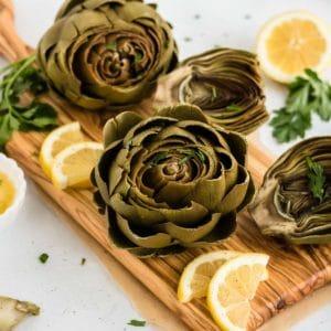 instant pot artichokes with lemon